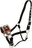 Showman Beaded Cross Bronc Halter
