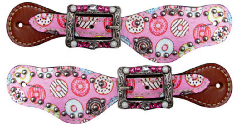 """Showman """"Donuts"""" Youth Spur Straps"""