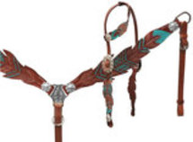 Showman Freedom Feather Tack Set, Full size