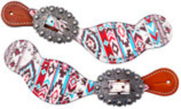Showman Navajo Diamond Spur Straps