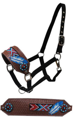 Showman Painted Feather Bronc Halter