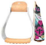 Showman Shimmering Cross & Feather Stirrups