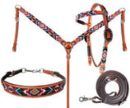 "Showman ""Sun Valley"" Tack Set"