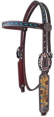 "Showman ""Sunflower & Buckstitch"" Headstall"