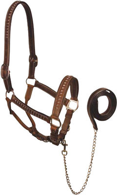 Silver Bar Leather Halter