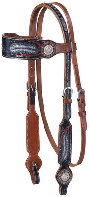 Zane Collection Headstall, Medium Oil