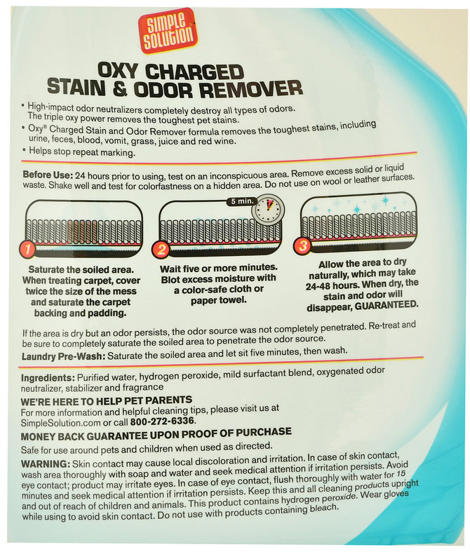 Simple Solution Oxy Charged Stain & Odor Remover Spray
