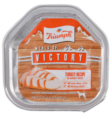 Single Meals of Victory with Turkey Dog Food, 3.5 oz