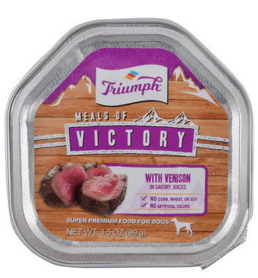 Single Meals of Victory with Venison Dog Food, 3.5 oz