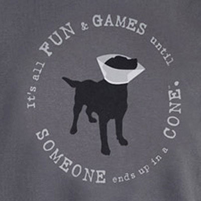 It's All Fun & Games Unisex Tee, Slate Gray