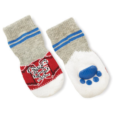 Small Blue/Red Slipper Socks