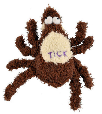 Small Plush Tick Dog Toy, 6""
