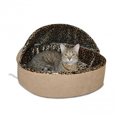 Thermo-Kitty Hooded Heated Cat Bed, Large