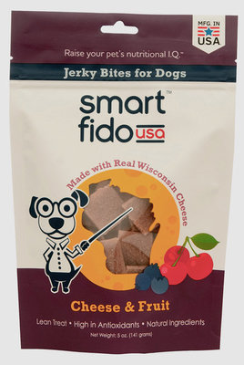 Smart Fido Cheese & Fruit Jerky Bites, 5 oz.