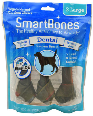SmartBones Dental Treats, Large, 3 pack
