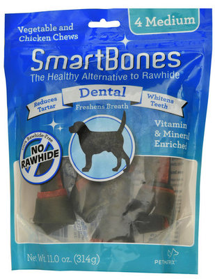 SmartBones Medium Dental Treats, 4 pack