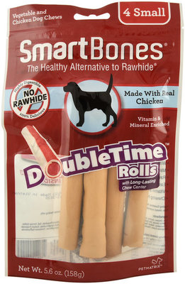 SmartBones DoubleTime Small Rolls, 4 pack