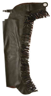 Smooth Leather Chaps with Fringe