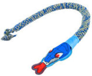 SnakeBiter Squeaky Head Premium Rope Toy
