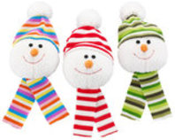 """Snowball with Knit Scarf, 7"""" (Assorted)"""