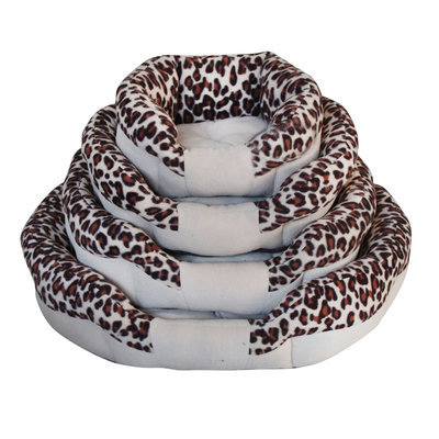"Animal-Print Bolster Bed, 19"" X 16"" X 6"""