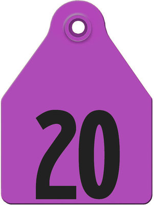 AgriTag Custom Numbered Ear Tags (Large), 25 count