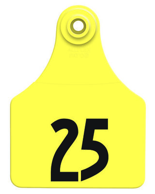 Allflex Custom Numbered Ear Tags (Large), 25 count