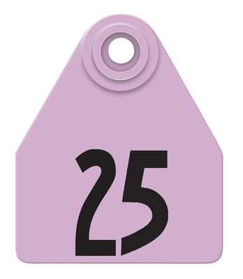 Allflex Custom Numbered Ear Tags (Medium), 25 count