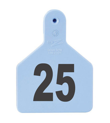 Z Tags Custom Numbered Ear Tags (Calf), 25 count