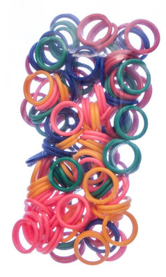 100 pack, Spiral Leg Bands, Assorted, size 9