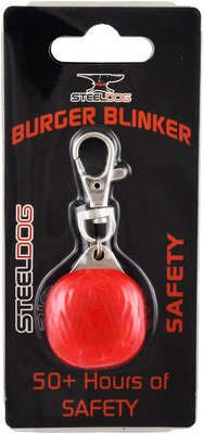 SteelDog Burger Blinker LED Safety Light, Red