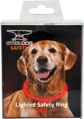SteelDog Rechargeable Lighted Safety Ring, Red