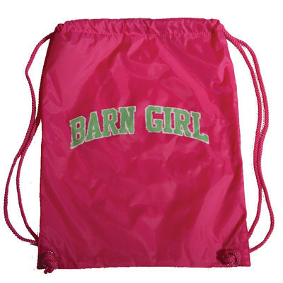 "Stirrups Cinch Back Pack, ""Barn Girl"""