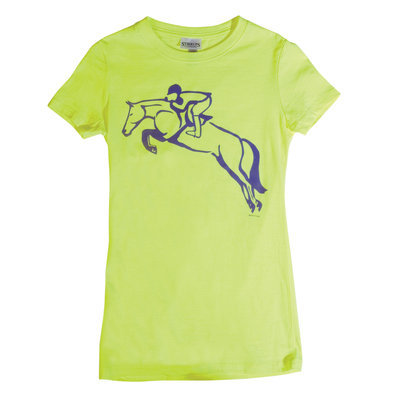 Stirrups Jumper Tee, Neon Yellow