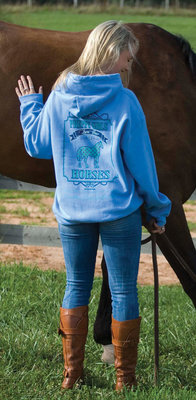 """Preppy Girls Love Their Horses"" Hoodie"