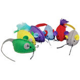 Stitched Mice, 6 pack assorted, 2.25""