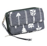 """Straight & Arrow"" Crossbody Clutch"