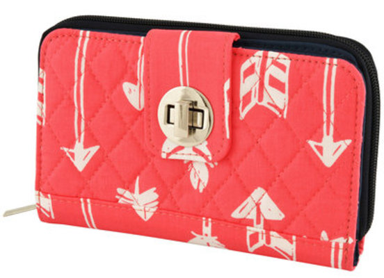 """""""Straight & Arrow"""" Quilted Clutch Wallet"""