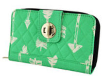 """Straight & Arrow"" Quilted Clutch Wallet"