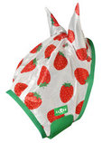 Strawberry Print Mesh Fly Mask with Ears