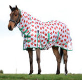 Strawberry Print Saxon Combo Neck Mesh Fly Sheet