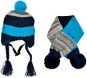Stripe Dog Hat & Scarf Combo