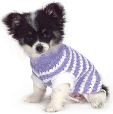 Stripe Knit Pet Sweaters, 6""