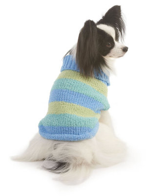 X-Small Stripe Dog Sweater, Blue