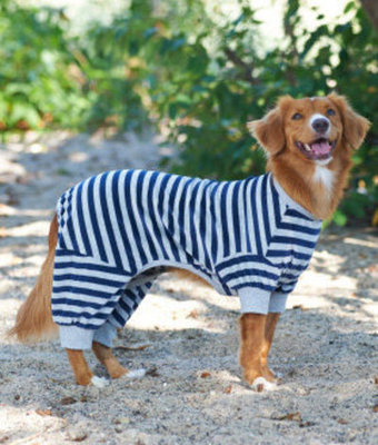 Large Blue Striped Dog Pajamas