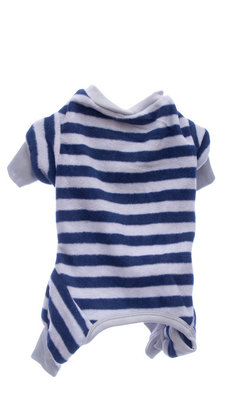 Blue/Gray Striped Dog Pajamas