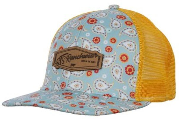 STS Turquoise Paisley Patch Hat, Ladies