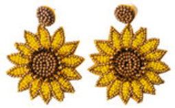 Sunflower Seed Bead Earrings