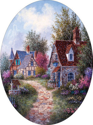 """Wishing Well Lane"" 600 piece Jigsaw Puzzle"