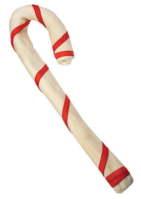 "Super Size (20""-22"") Rawhide Candy Cane"